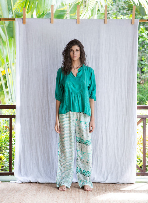 VANI TOP - DARK GREEN