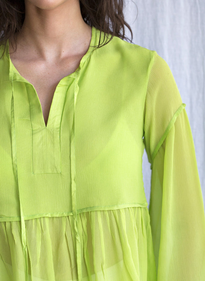 SILIA TOP - BRIGHT GREEN