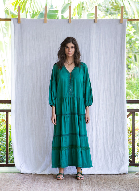 MAHE DRESS - DARK GREEN