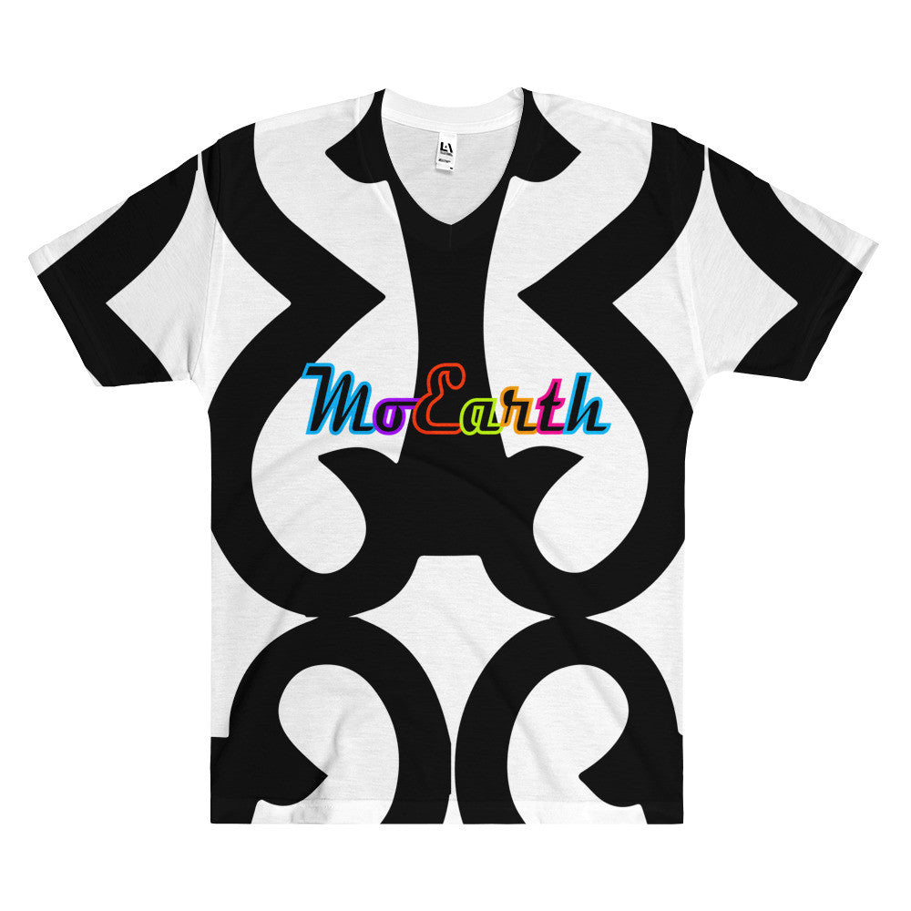 Moearth All-Over Print  -  BRSH Vneck Tshirt
