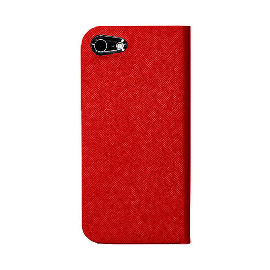 iPhone 7 Leather Case (Red) Book Type - Calf Leather Cover for iPhone7 - SQCCB700-RED