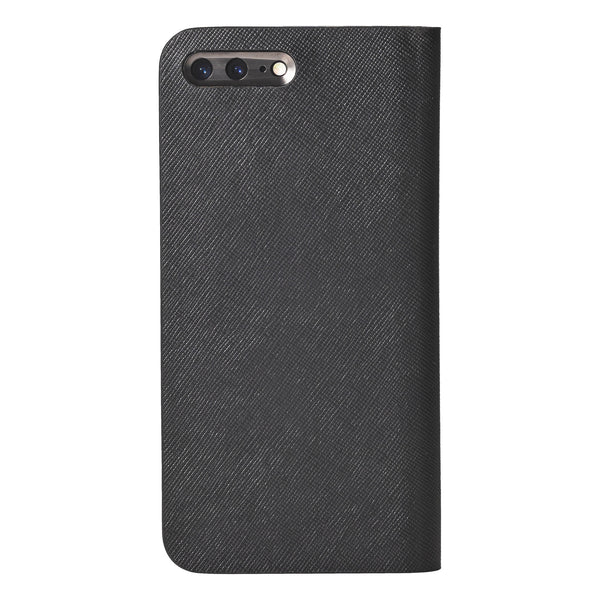 iPhone 7 Plus Leather Case (Black) Book Type - Calf Leather Cover for iPhone7Plus - SQCCB710-BLK