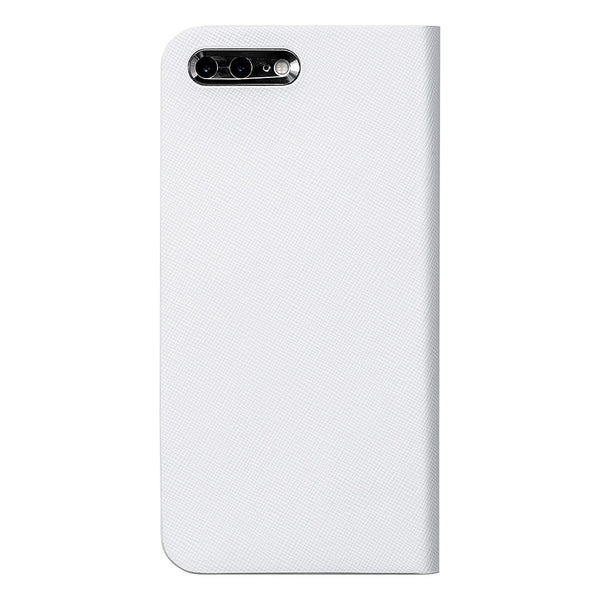 iPhone 7 Leather Case (White) Book Type - Calf Leather Cover for iPhone7 - SQCCB710-WHT