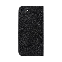 iPhone 7 Leather Case (Black) Book Type - Stingray Leather Cover for iPhone7 - SQSRB700-BLK