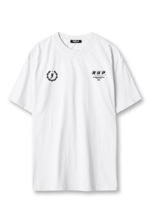 PRESSURE WASHED WHITE T-SHIRT