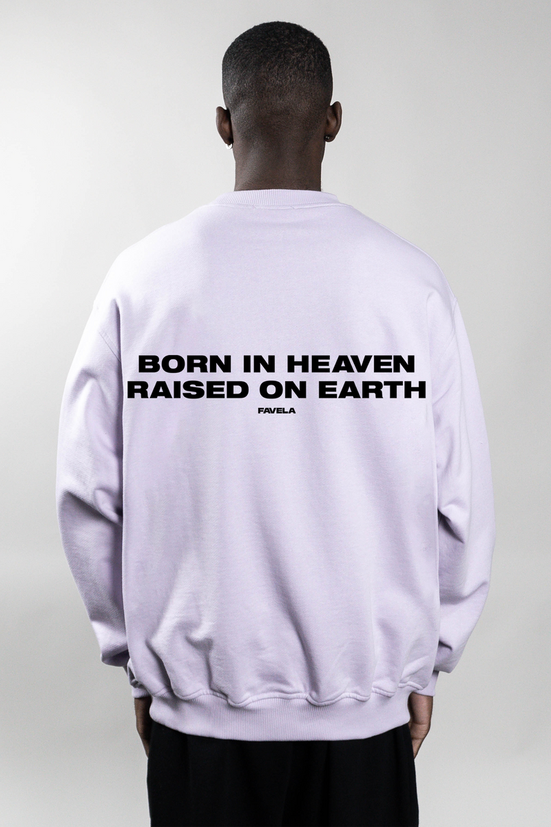 BORN IN HEAVEN LAVENDER CREWNECK