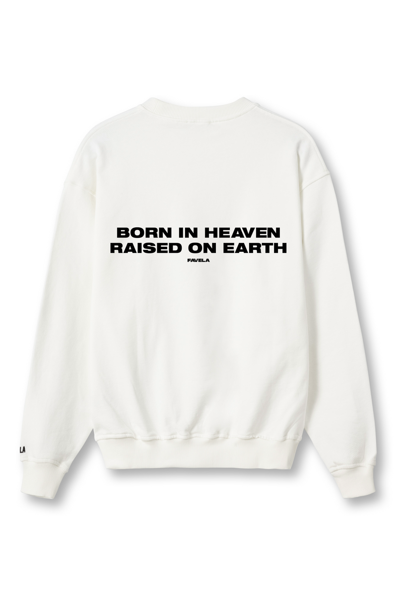 BORN IN HEAVEN VANILLA CREWNECK