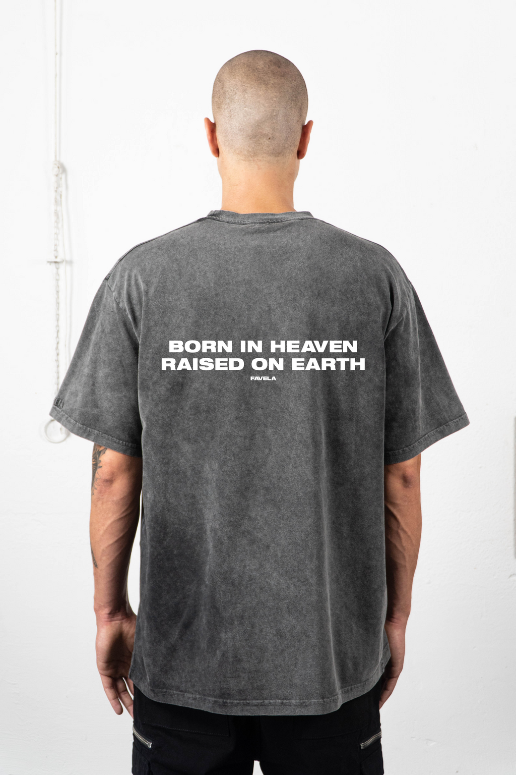 BORN IN HEAVEN ENZYME BLACK T-SHIRT