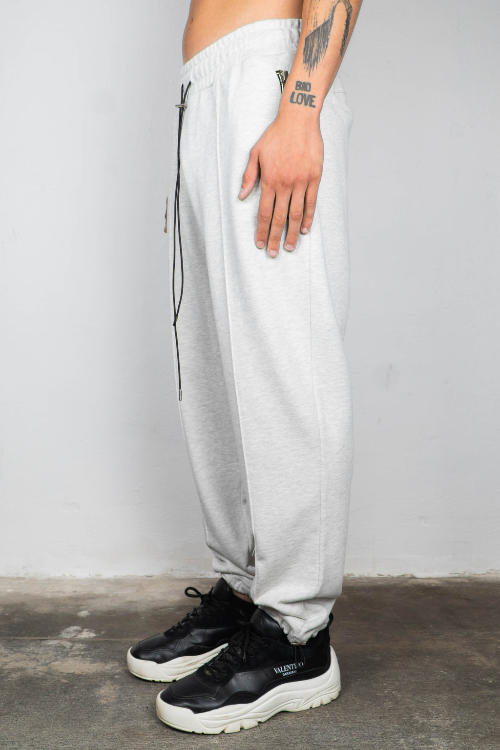 GREY MELANGE SWEATPANTS