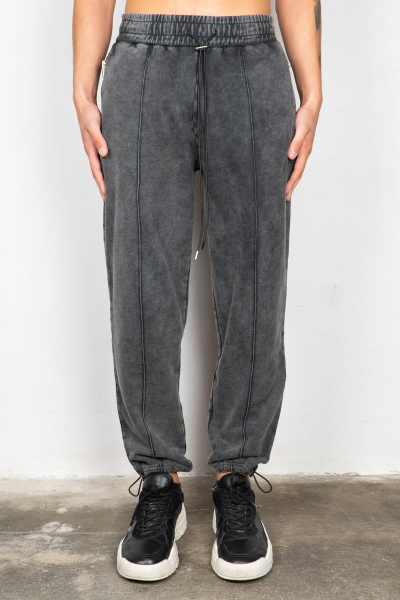 BLACK WASHED SWEATPANTS