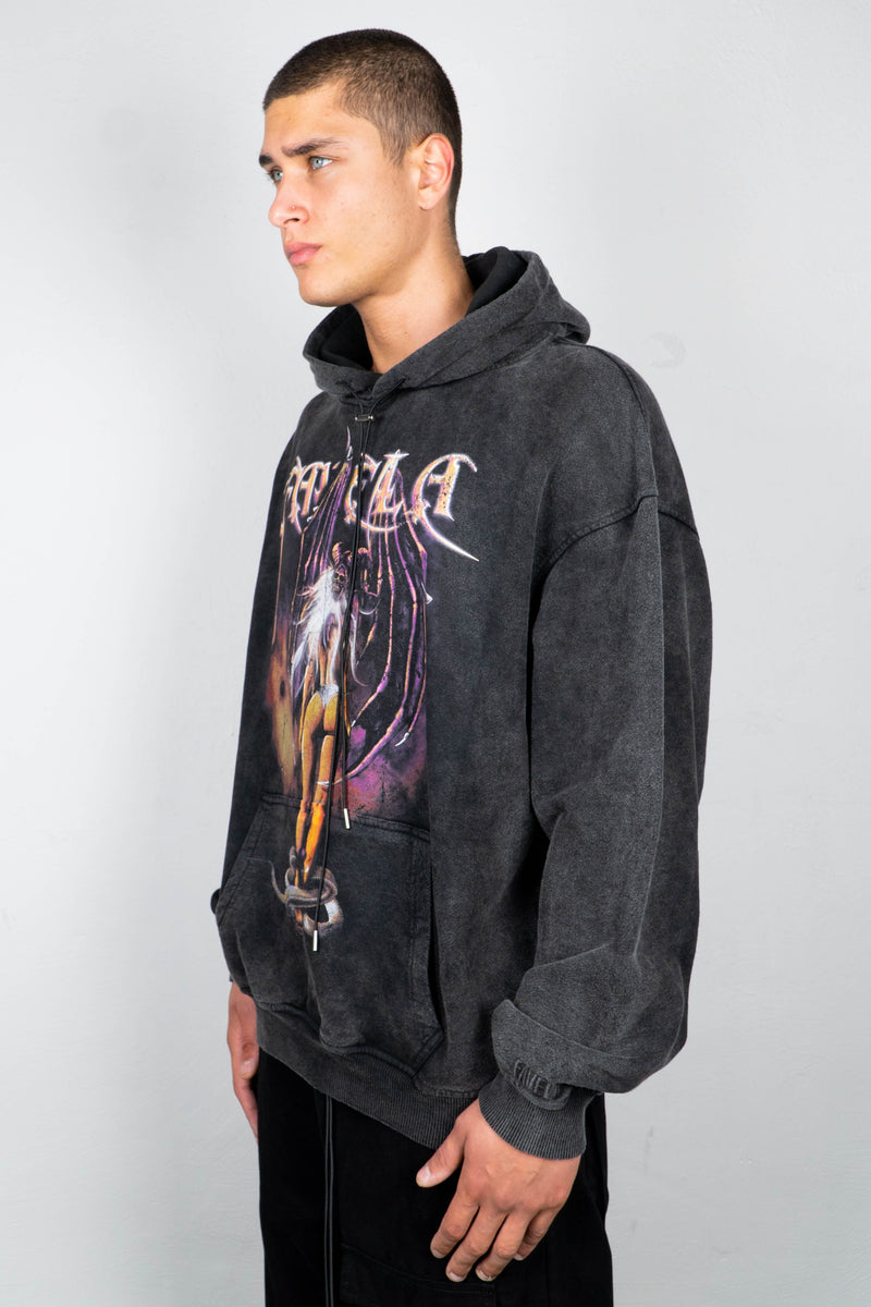 SEDUCE BLACK WASHED HOODIE