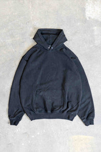 PIRATE BLACK WASHED SNAP BUTTON HOODIE