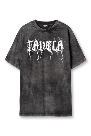 METAL BIG BLACK WASHED T-SHIRT