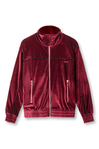 BORDEAUX VELVET TRACK JACKET
