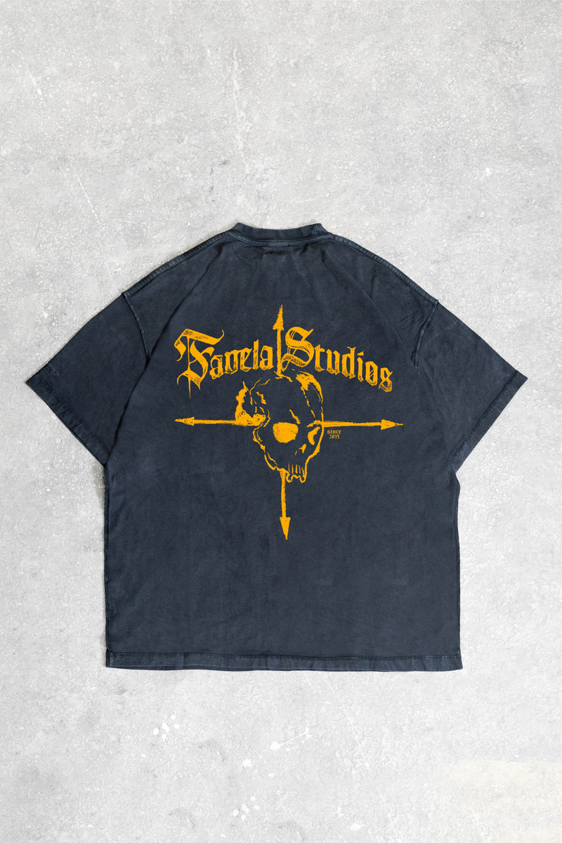 PIRATE BLACK WASHED T-SHIRT