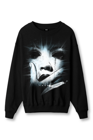 FACE BLACK CREWNECK