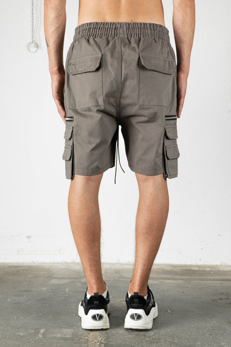 TAUPE MILITARY CARGO SHORTS V2