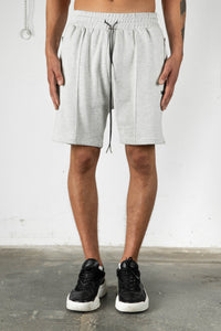 GREY MELANGE SWEAT SHORTS