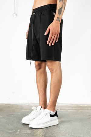 JET BLACK SWEAT SHORTS