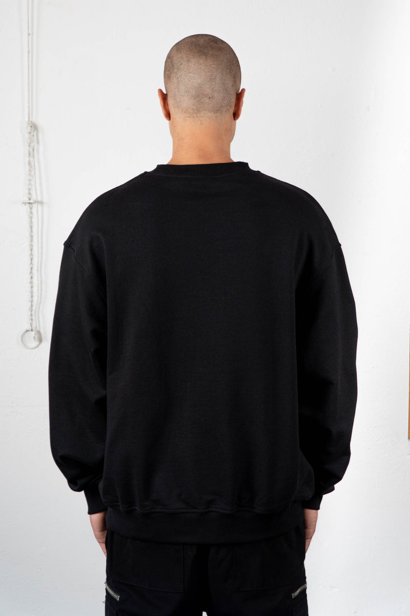 NEW LOGO BLACK CREWNECK