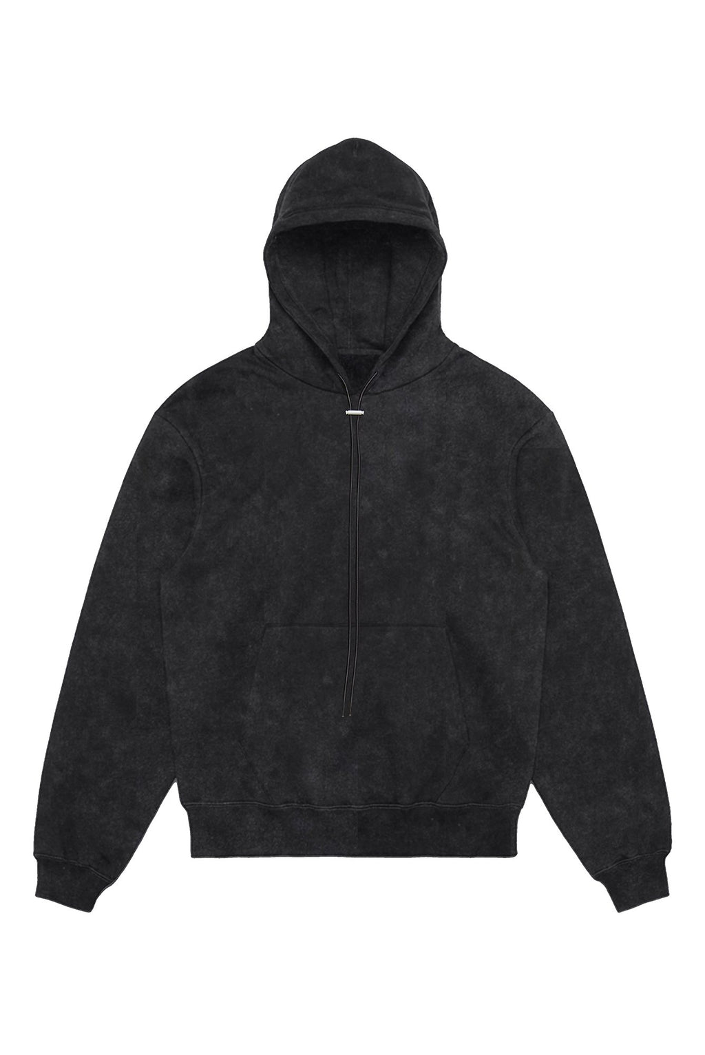 DOVE ENZYME WASH BLACK DRAWSTRING HOODIE