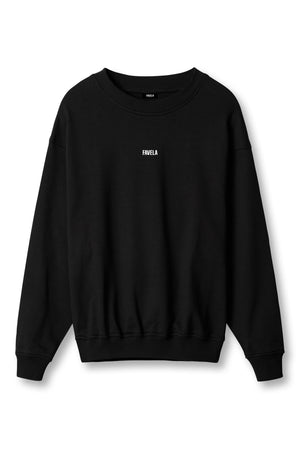 CENTER LOGO BLACK CREWNECK