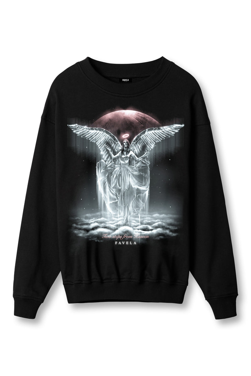 TWO STEPS FROM HEAVEN BLACK CREWNECK