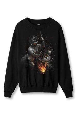 BROTHERS BLACK CREWNECK