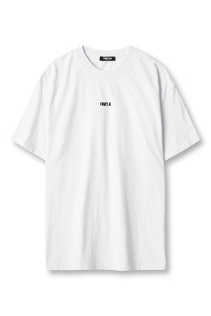 CENTER LOGO WHITE WASHED T-SHIRT