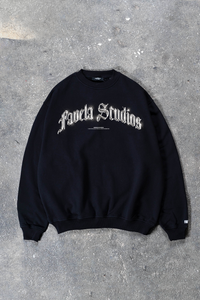 FAVELA STUDIOS CHROME BLACK CREWNECK