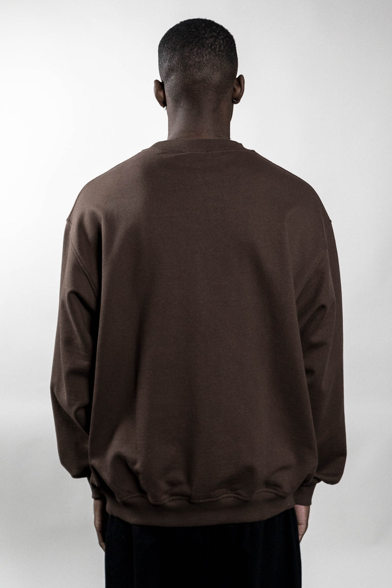 BOLT COFFEE BROWN CREWNECK