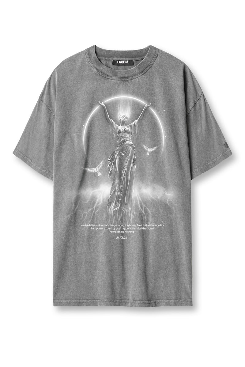 MISERY GREY WASHED T-SHIRT