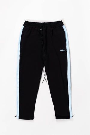 INSIDE OUT TRACK JOGGER BLACK/SKYBLUE