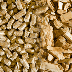 wood chips and pellets
