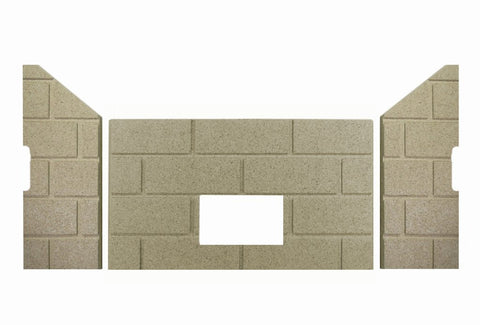 Whitfield Firebrick Set for Profile 30 & Optima 3, #14750015 - Pellet Stove Parts 4 Less