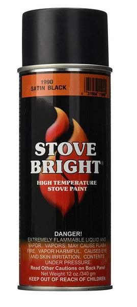 Stove Bright paint Satin Black 12oz Used on Many Models - Stove Parts 4 Less