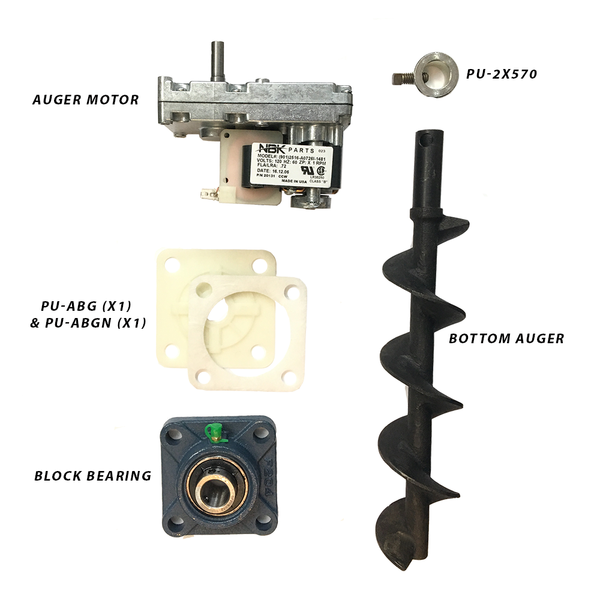 Englander Pellet Stove Bottom Auger Feed System Kit Including Auger Motor, Shaft, Bearings and More - Stove Parts 4 Less