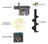 Englander Pellet Stove Top Auger Feed System Kit Including a Gleason Avery Auger Motor, Shaft, Bearings and More - Stove Parts 4 Less