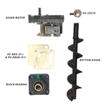 Englander Pellet Stove Bottom Auger Feed System Kit Including A Gleason Avery Auger Motor, Shaft, Bearings and More - Stove Parts 4 Less