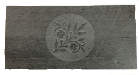 "Harman 12"" X 6"" Floral Slate Tile fits many models, 3-43-06731-11 - Stove Parts 4 Less"