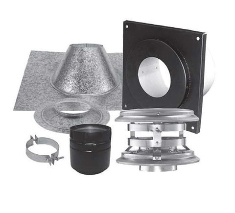 "3""Simpson PelletVent PRO, Vertical Kit, for Flat Ceiling, 3PVP-KVA - 3PVP-KVA - Stove Parts 4 Less"