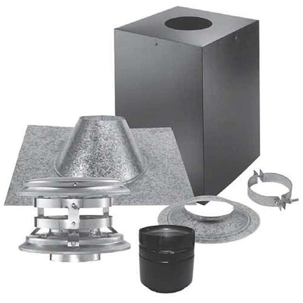 "4"" Vertical Kit for Cathedral Ceiling, Simpson PelletVent PRO 4PVP-KVB - Stove Parts 4 Less"