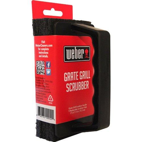 Weber Grill Brush Scrubber -  With 3 Replaceable Pads, W10 - Stove Parts 4 Less