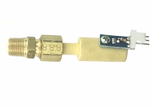 Thelin T-1 Sensor Mounted with brass Compression Fitting, 00-0005-0027-AMP