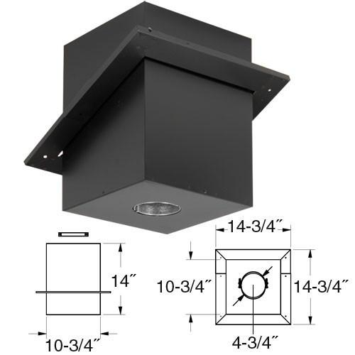 "4"" Cathedral Ceiling Support Box, Simpson PelletVent PRO, 4PVP-CS - Stove Parts 4 Less"