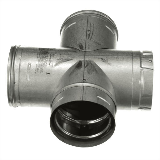 4'' PelletVent Pro Double Tee with Clean-Out Cap - 4PVP-DBT - Stove Parts 4 Less