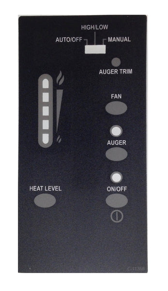 Enviro Merdian Post July 06 Control Panel Decal With T/Stat Switch, 50-1476 - Stove Parts 4 Less