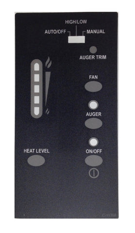 enviro merdian post july 06 control panel decal with t