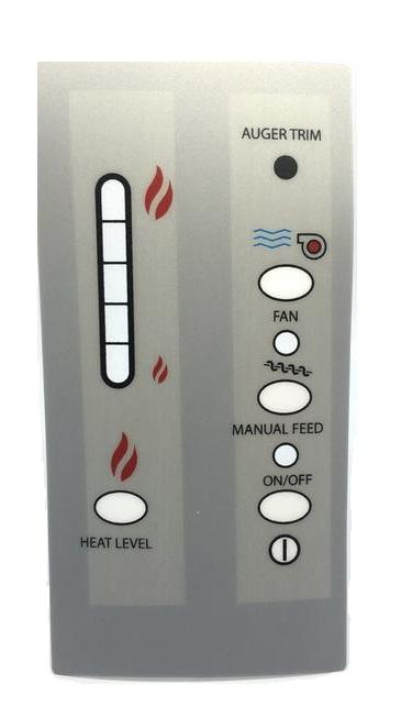 Control Board Decal for Enviro EF5, Meridian, Windsor and Mini & Vistaflame, 50-179 - Stove Parts 4 Less