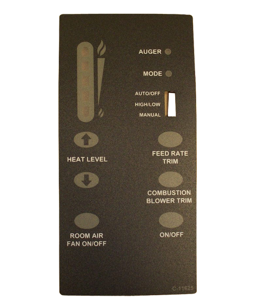 Enviro Meridian & Mini Control Panel Decal, 50-1930 - Stove Parts 4 Less